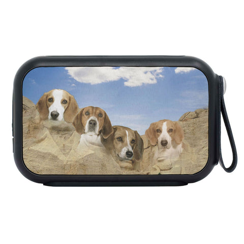 American Foxhound On Mount Rushmore Print Bluetooth Speaker