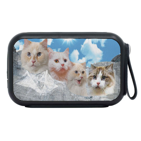 Ragamuffin Cat On Mount Rushmore Print Bluetooth Speaker