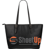 Don't Give Up The Right-Large Leather Tote Bag-Free Shipping