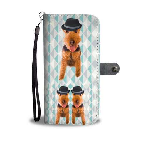Welsh Terrier Dog Print Wallet Case-Free Shipping