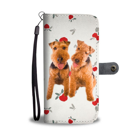 Cute Welsh Terrier Dog Print Wallet Case-Free Shipping