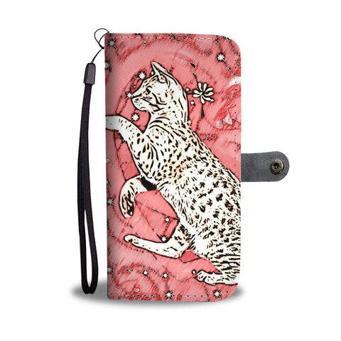 Ocicat in heart Print On Pink Wallet Case-Free Shipping