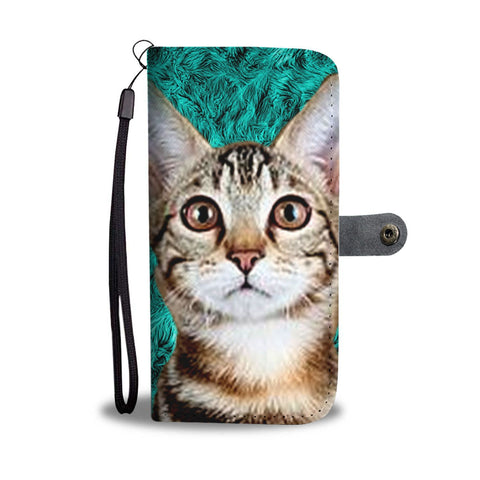 Lovely Sokoke Cat Print Wallet Case-Free Shipping