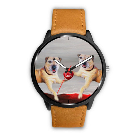 Border Terrier Love Print Wrist Watch-Free Shipping