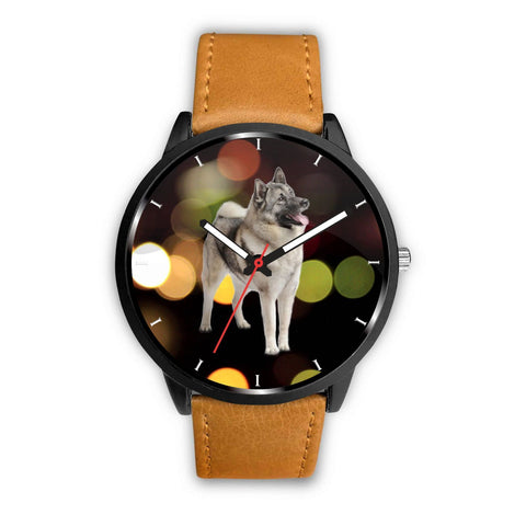 Amazing Norwegian Elkhound Print Wrist Watch-Free Shipping