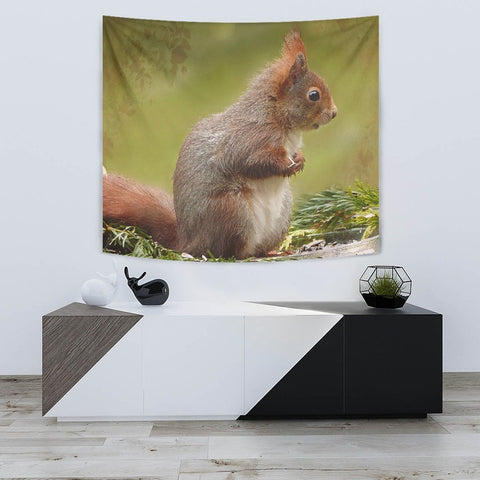 Red Squirrel Print Tapestry-Free Shipping