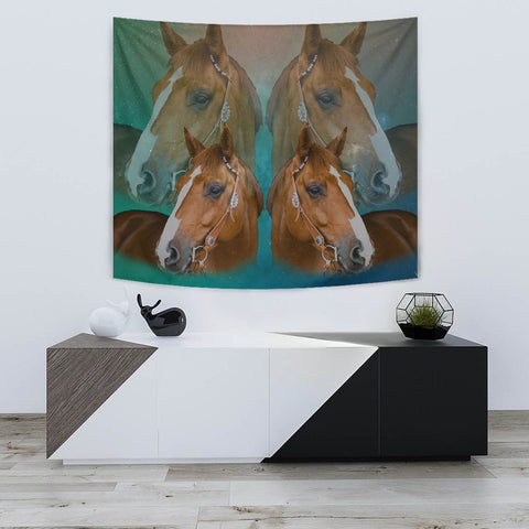Amazing Quarter Horse Print Tapestry-Free Shipping