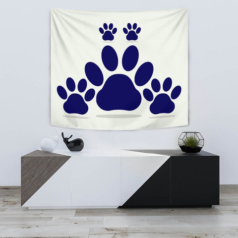 Dog Paws Print Tapestry-Free Shipping