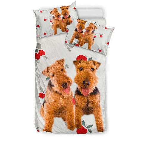 Cute Welsh Terrier Dog Print Bedding Sets-Free Shipping