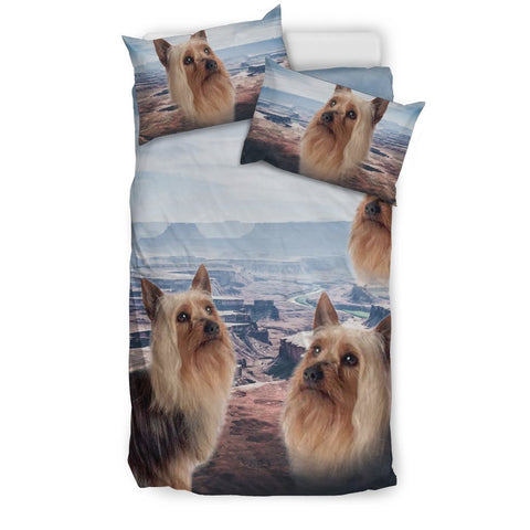Cute Australian Silky Terrier Print Bedding Set- Free Shipping