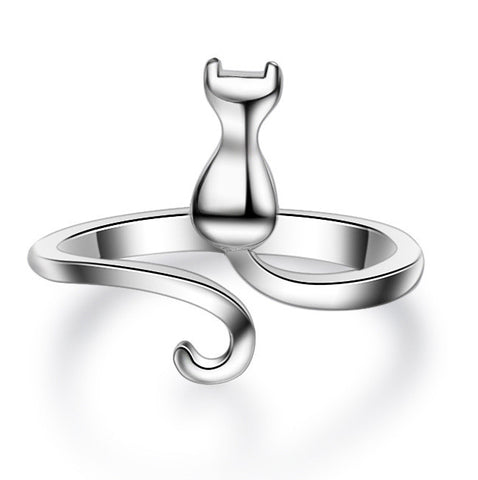 Cute Cat Jewelry - Open Finger Ring