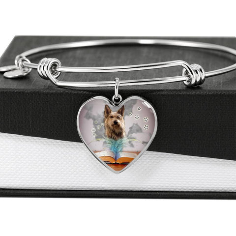 Berger Picard Print Luxury Heart Charm Bangle -Free Shipping