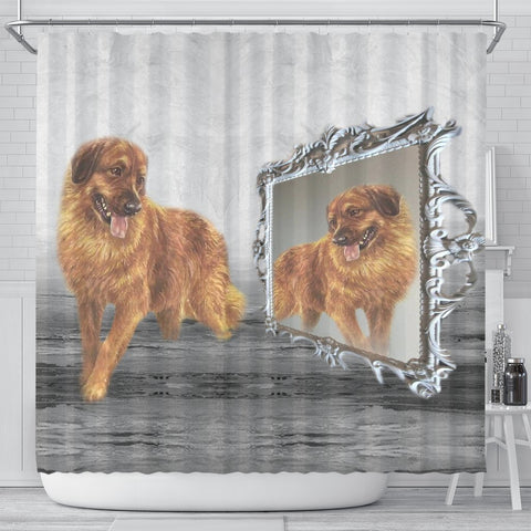 Leonberger Dog Print Shower Curtain-Free Shipping