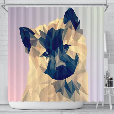 Akita Dog Vector Art Print Shower Curtains-Free Shipping
