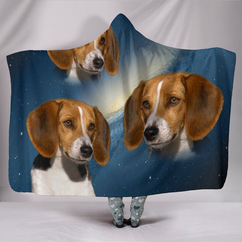 American Foxhound Print Hooded Blanket-Free Shipping