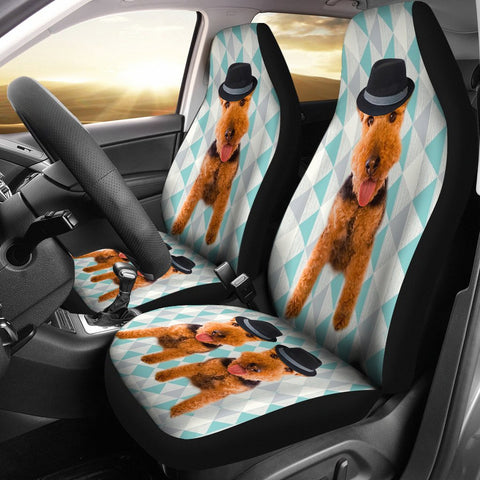 Cute Welsh Terrier Print Car Seat Covers-Free Shipping