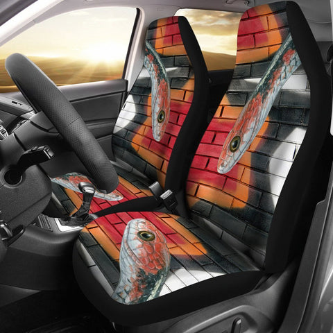 Snake Red Print Car Seat Covers-Free Shipping