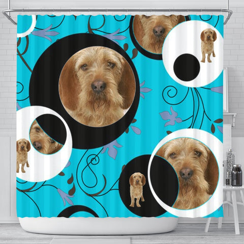 Basset Fauve de Bretagne Dog Print Shower Curtain-Free Shipping