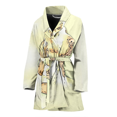 Amazing Bracco Italiano Dog Print Women's Bath Robe-Free Shipping