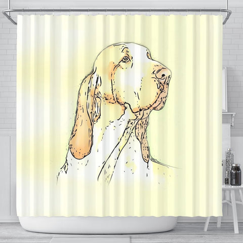 Bracco Italiano Dog Print Shower Curtain-Free Shipping