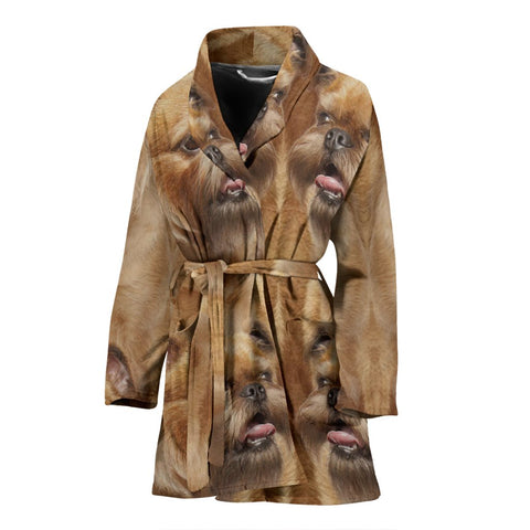 Amazing Brussels Griffon Dog Print Women's Bath Robe-Free Shipping