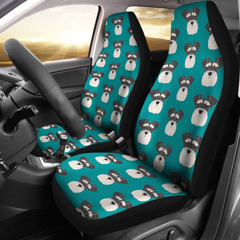 Miniature Schnauzer Dog Pattern Print Car Seat Covers-Free Shipping
