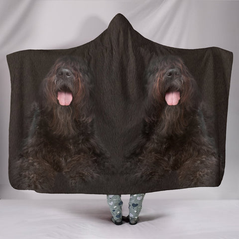 Bouvier des Flandres Dog Print Hooded Blanket-Free Shipping