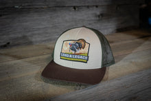 Load image into Gallery viewer, Wild Turkey Conservation Cap - Tri-Color - Tan/Loden/Brown