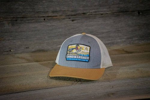 Wood Duck Conservation Cap - TRI-COLOR: LIGHT BLUE/BIRCH/AMBER GOLD