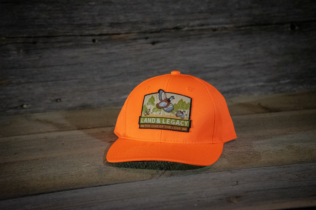 Northern Bobwhite Quail Conservation Cap - Blaze Orange