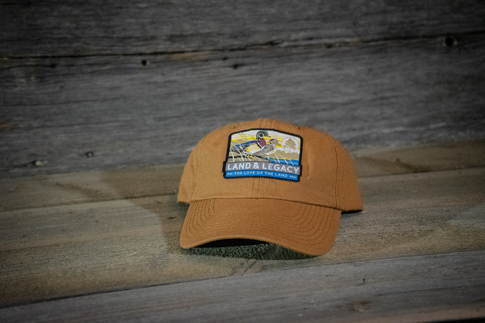 Wood Duck Conservation Cap - Solid Brown - 6 Panel Unstructured Cap