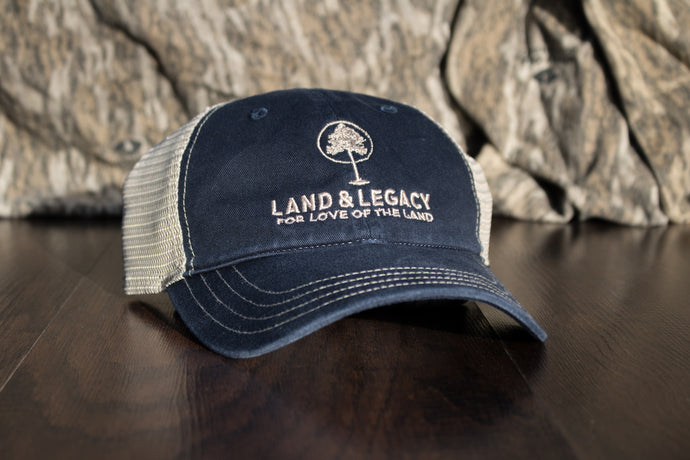 Low Rise Logo Hat | Navy/Khaki