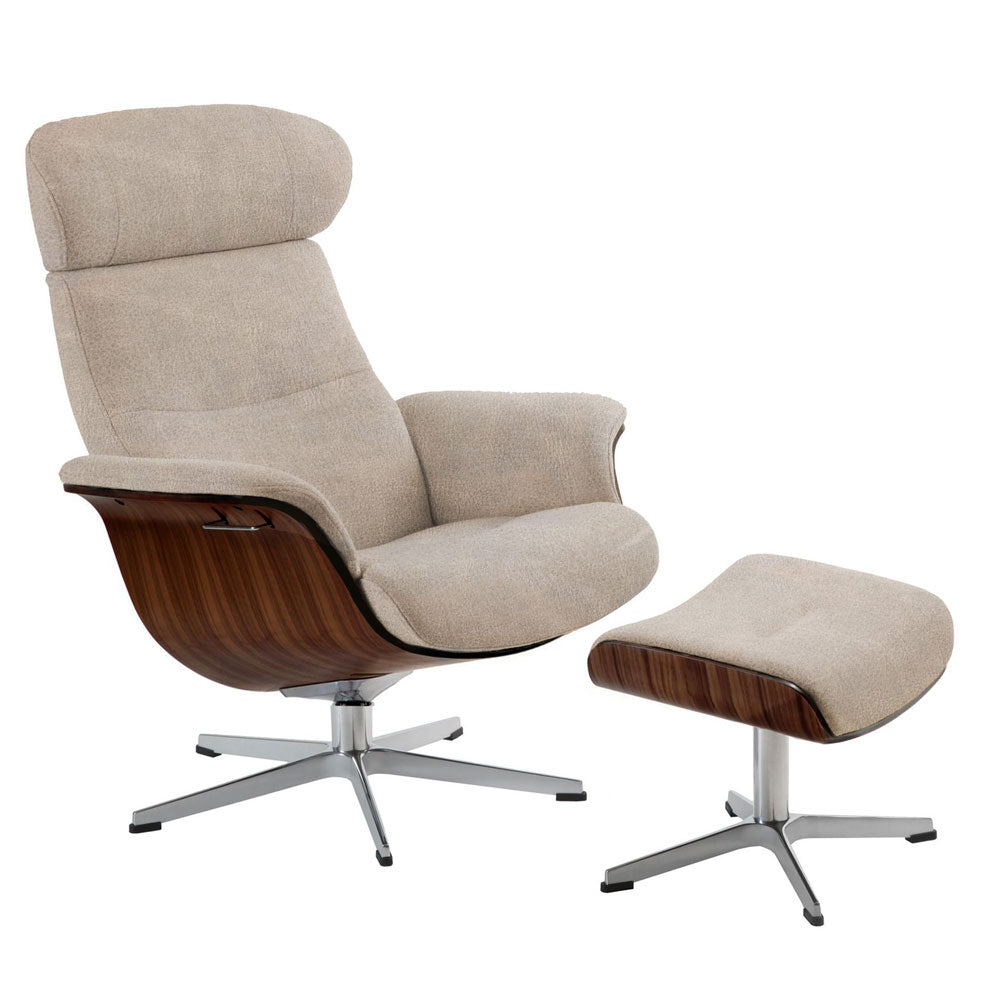Relaxsessel Timeout Grizzly Taupe Livingforme