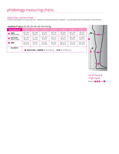 mediven plus, 20-30 mmHg, Thigh High W/ Silicone Top-Band, Closed Toe