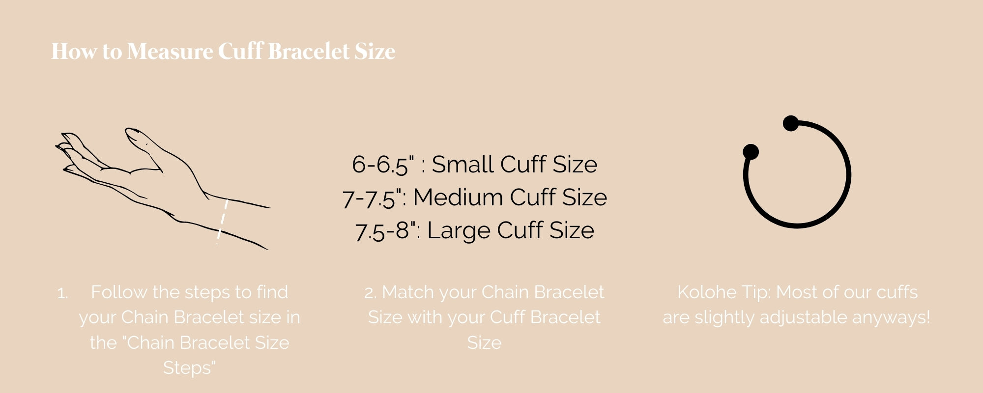 How to Find Bracelet Cuff Size Gold Fill Handmade Jewelry