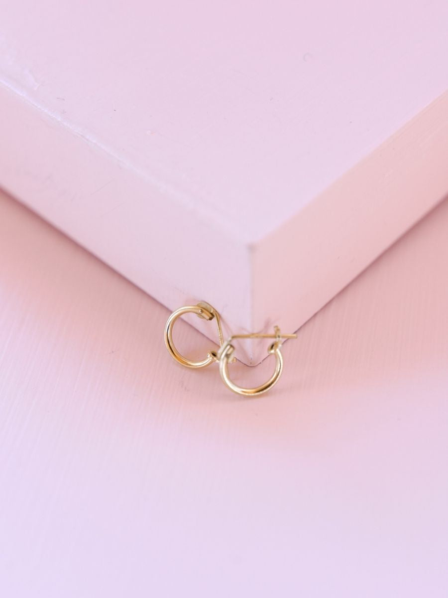 Dainty Gold Hoops