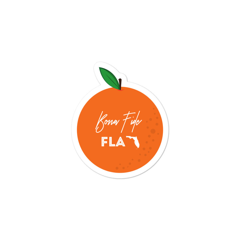 Bona Fide FLA Orange Sticker