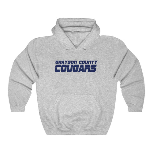 Grayson County Cougars Hooded Sweatshirt - Hoodie - The Brown Barrel
