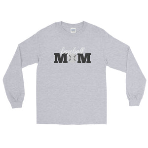 Baseball Mom Long Sleeve T-Shirt - Long Sleeved T-Shirt - The Brown Barrel