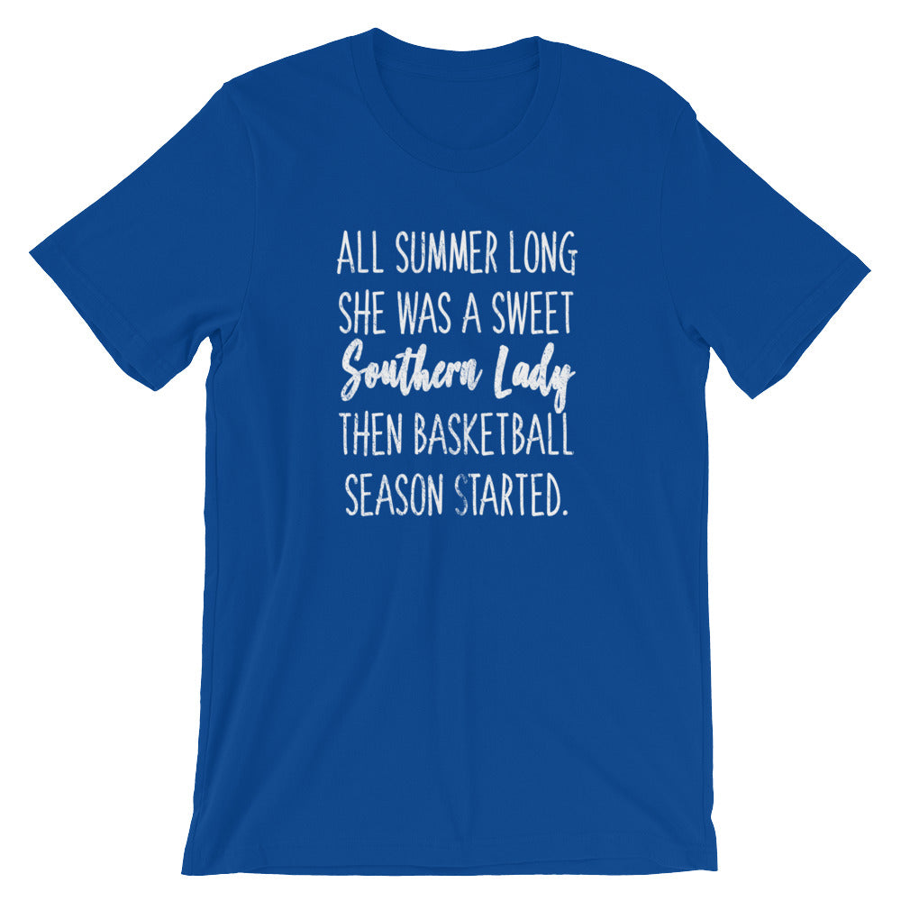 Southern Lady Basketball T-Shirt - The Brown Barrel