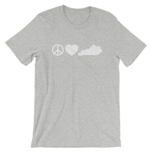 Peace Love Kentucky T-Shirt - T-Shirt - The Brown Barrel