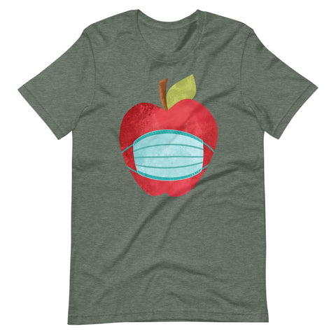 Masked Apple Teacher Short-Sleeve Unisex T-Shirt