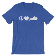 Load image into Gallery viewer, Peace Love Kentucky T-Shirt - T-Shirt - The Brown Barrel