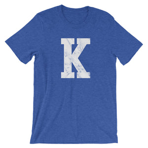 "The ""K"" in White T-Shirt - T-Shirt - The Brown Barrel"