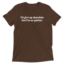 Load image into Gallery viewer, Give Up Chocolate Tri-Blend T-Shirt - T-Shirt - The Brown Barrel