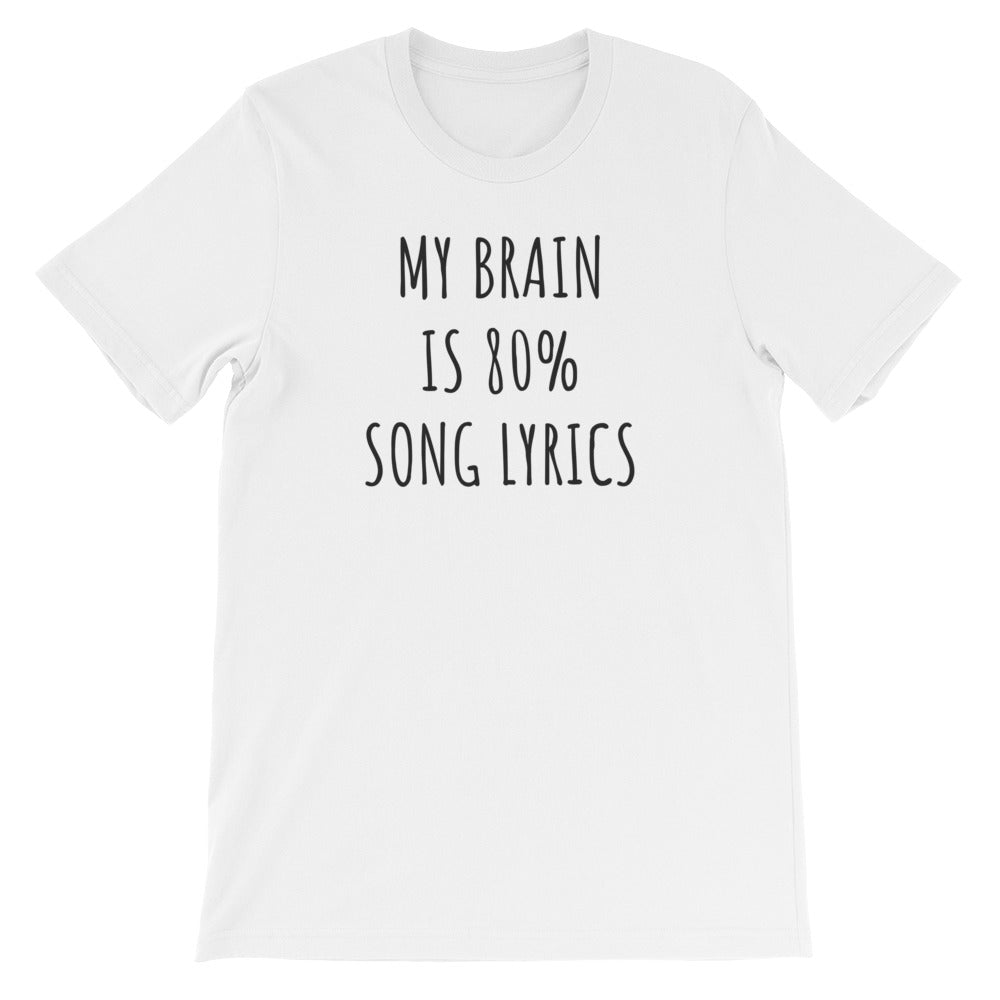 Song Lyrics T-Shirt - T-Shirt - The Brown Barrel