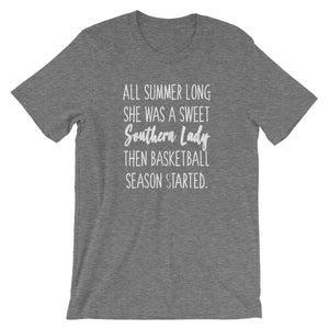 Southern Lady Basketball T-Shirt - T-Shirt - The Brown Barrel