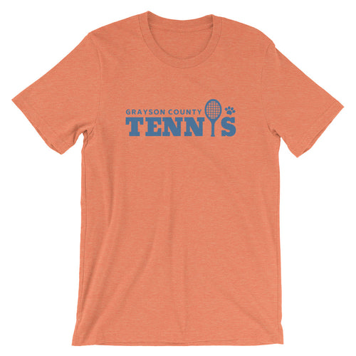 Grayson County Tennis (Blue Text) T-Shirt - T-Shirt - The Brown Barrel