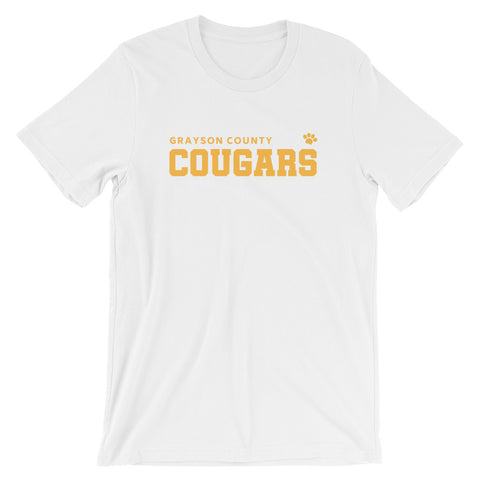 Grayson County Cougars (Orange Text) T-Shirt - T-Shirt - The Brown Barrel