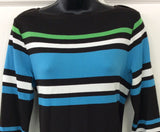 Worth New York Multi-Colored Striped Knit Dress Size M